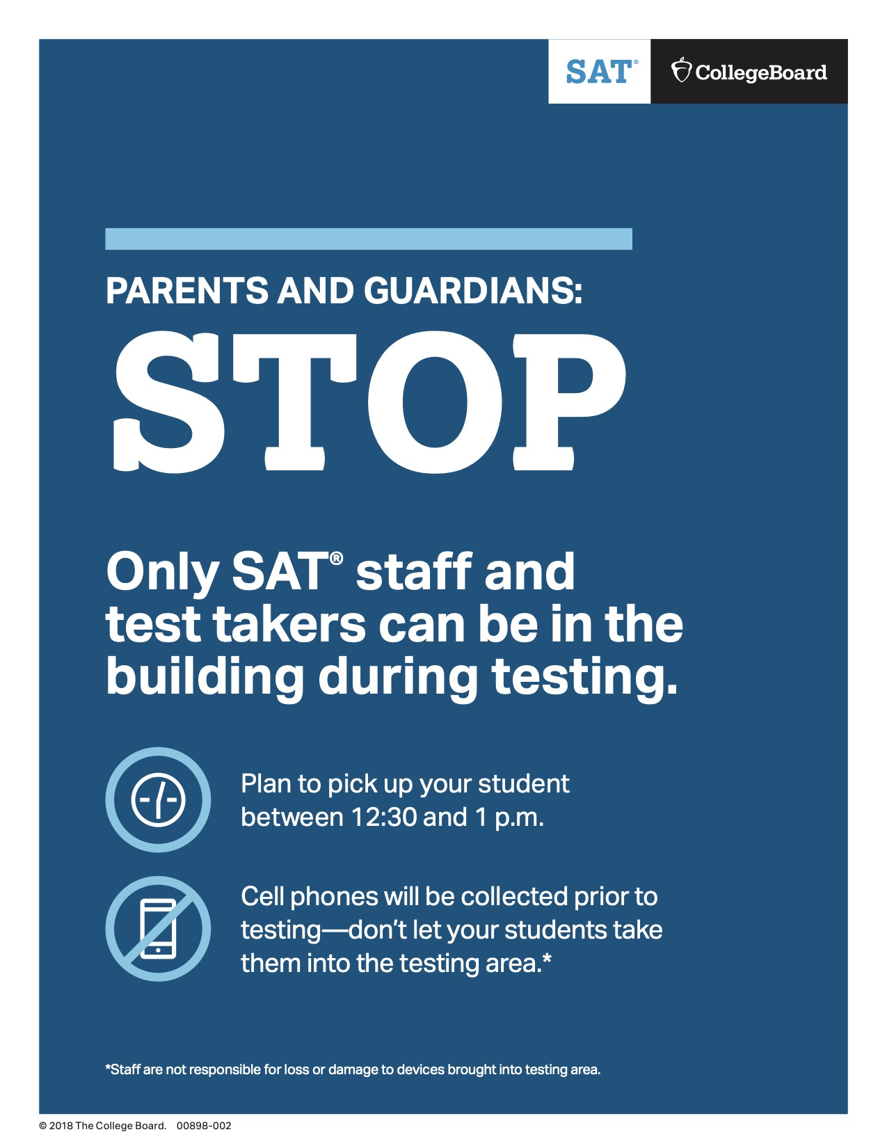 SAT Parents and Guardians Poster
